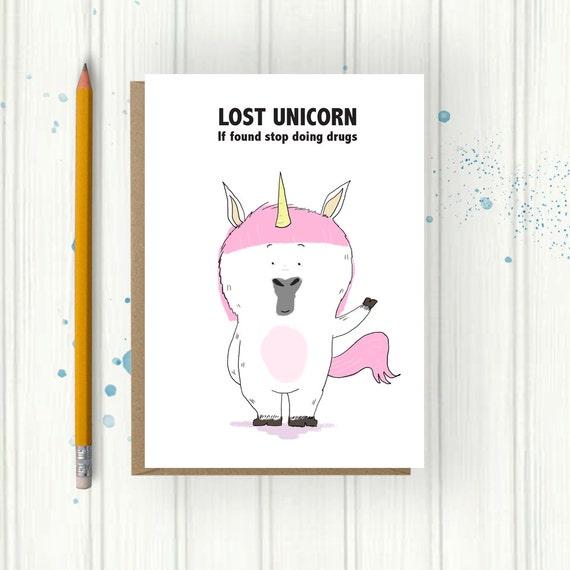 Unicorn Card Pun Card Funny Birthday Card Unicorn – Funny Birthday Card Puns