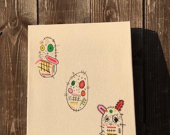 Three way bunny canvas
