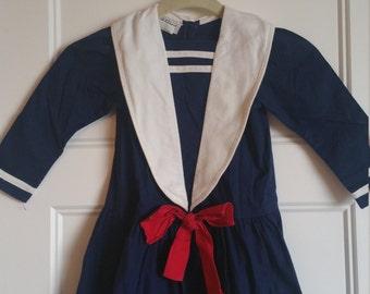 Vintage Debut Toddler Sailor Dress Size 4