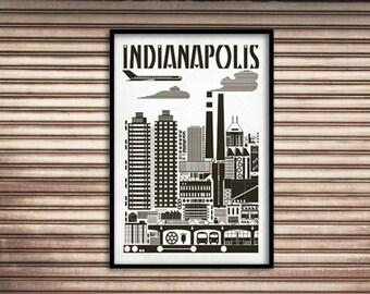Indianapolis Bauhaus Poster