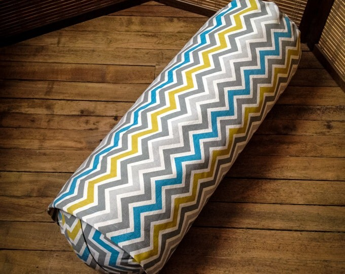 35% off Yoga bolster Zig Zag Organic buckwheat body pillow restorative practice meditation products by Creations Mariposa