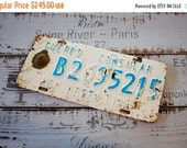 HOLIDAY SALE Antique Metal License Plate DIPLOMATIC Number Plates about 1950