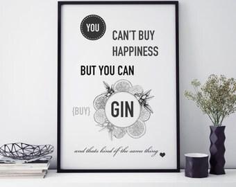 Glamour Gin Print