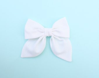 WHITE Midi Classy Bow