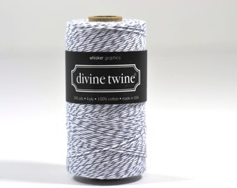 240 Yards of Bakers Twine-Oyster Stripe-100% Cotton-Gift Wrapping-Wedding Favors-Product Packaging