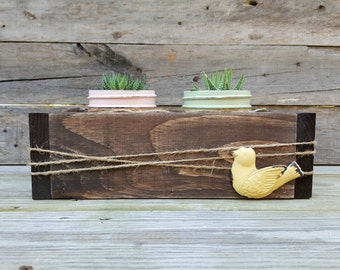 Rustic Succulent Centerpiece with Wooden Box and Distressed Mason Jars, Succulent Wedding Centerpiece, Succulent Box, Wooden Planter Box,