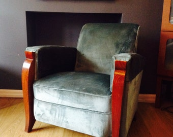 French Art Deco armchair in manner of Ruhlmann
