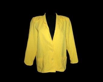 80's yellow women jacket