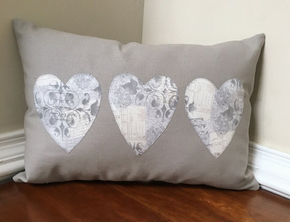 Heart pillow, valentine pillow, Modern heart pillow