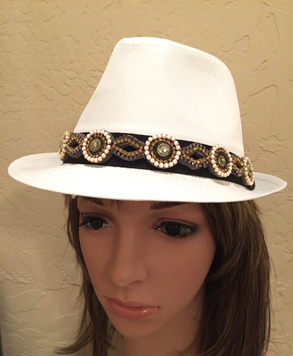 Fedora White Fedora Womens Hats Summer Hats Easter Hat