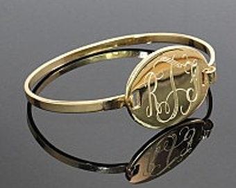 Monogram Bangle Bracelet, Monogrammed Bracelet