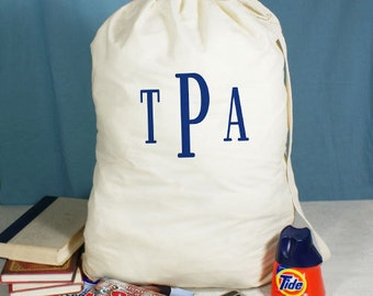 Monogrammed Laundry Bag, Laundry Tote