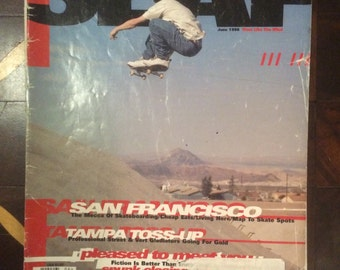Vintage Slap Skateboard Magazine June 1996 50th Issue Special Keith Hufnagel Cover FC