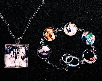 Personal Photo Pendant and Bracelet Set