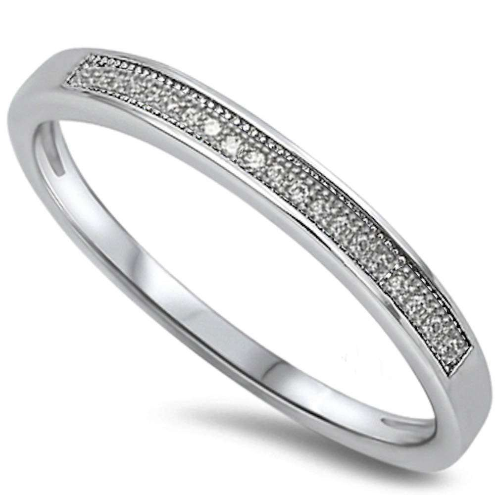 Half Eternity Band Bands: 2.5mm Half Eternity Wedding Engagement Band Ring 925