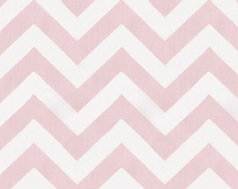 Pink Zig Zag Organic Fabric - By The Yard - Girl / Pink / Fabric