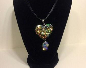 Dacro-ish Heart Resin pendant