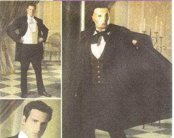 Simplicity 4482 Men's  Phantom of the Opera Costume Pattern, XS-XL