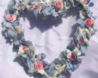 Heart Fabric Summer Wreath