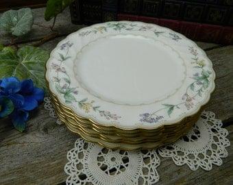 Set of 6 Vintage Noritake Brookhollow Salad Plates