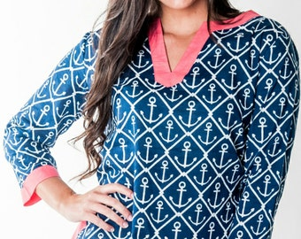 Monogrammed Swimsuit Tunic Cover Up / Beach Tunic Cover Up