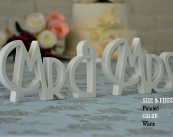 Wedding Signs- Mr & Mrs Wedding Decorations- Wedding decor- Mr and Mrs signs, Mr and Mrs Wood Wedding Decoration