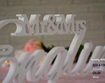 Sweetheart Table Mr And. Mrs Sign and Custom Made Mr & Mrs Family Name Sign For Your Sweetheart Table