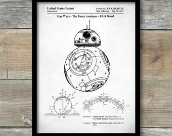 The Rogue One Poster, Star Wars BB-8 Poster, BB-8 Patent, BB-8 Print, Star Wars Art, The Force Awakens Decor, P236