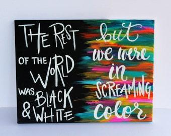 Taylor Swift Painting // Taylor Swift Lyrics //  Taylor Swift Canvas // Out of the woods lyrics