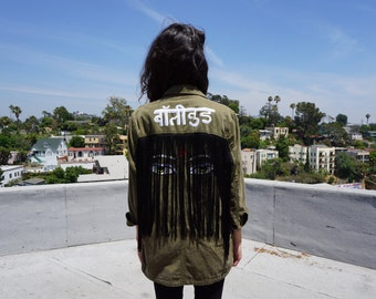 Bollywood Hand-Painted Military Jacket