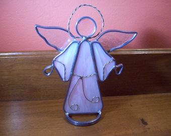 Vintage Art Metal and Sculpture Angel Figurine