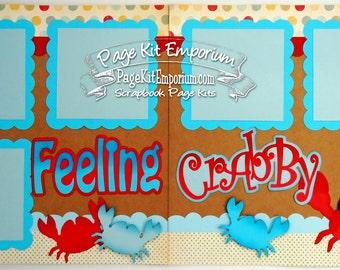 Scrapbook Page Kit Feeling Crabby Boy Girl Baby 2 page Scrapbook Layout Kit 072
