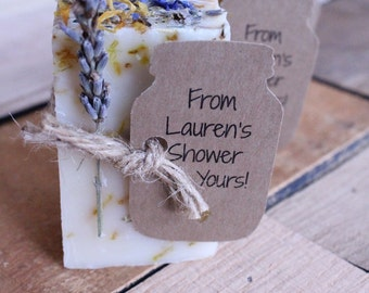 Bridal Shower Favors,wedding favors,wedding favors rustic,rustic wedding favor,party favor Lavender Calendula Guest Soap  2oz