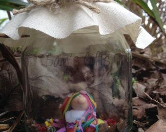 Rainbow Sparkle -Rainbow pixie in a Jar