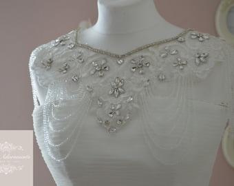 Luxury Vintage Style Crystal Bridal Bolero, Rhinestone wedding jacket