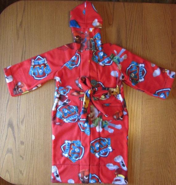 Paw patrol robe fleece robe/ hooded/ pockets/  7  prints character fleece