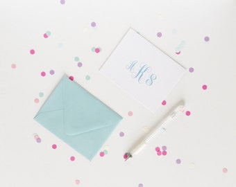 Personalized Note Cards - Thank You Notes - Thank You Card - Personalized Stationery - Monogrammed Stationary - Writing Paper - Snail Mail