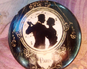 10 Paris Dance Music Glass 25 mm Cabochon