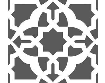 Wall Stencils Damask Tile Stencil for DIY Decor Faux Reusable Template V0024