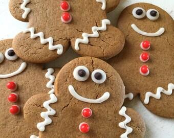 Vegan Gingerbread Men Cookies ONE DOZEN/Vegan Cookies/Vegan Cake/Cookies/Vegan Treats/Gluten Free Cookies/Sweet Spot Minis/Christmas