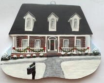 Custom House Ornament - Handmade house ornament, unique gift, made to order