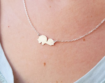 Tiny turtle pendant - Minimalist jewelry - Animal lovers jewelry - Sterling silver necklace - sea turtle necklace