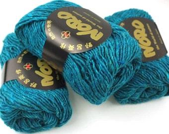 Noro Silk Garden Solo, color 11, Mediterranean Blue  - mohair, wool, silk knitting yarn