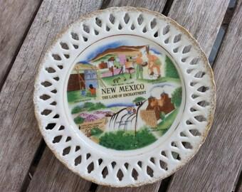 New Mexico Souvenir Plate; wall decor; 1970's; Vintage