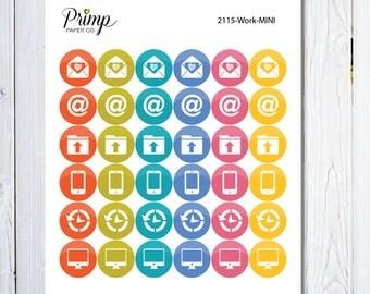 Work Icon - Mini Sticker Sheet, planner stickers