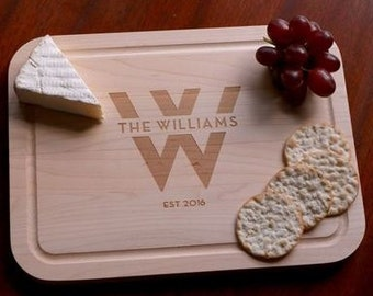 Personalized Heartstrings Maple Cutting Boards