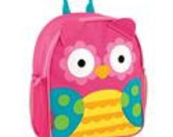 Monogrammed Owl Stephen Joseph mini sidekick backpack
