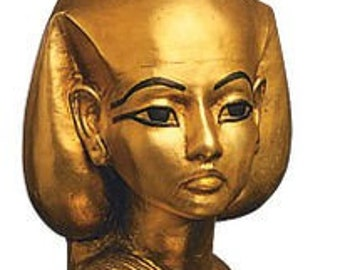 Head of Isis Original Replica Statue Gold Plated