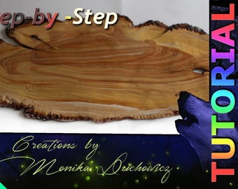 TUTORIAL Step-by-Step wood effect from polymer clay bookmark wood