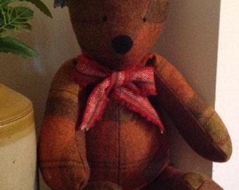 Bentley Bear....100% Pure Wool Teddy Bear